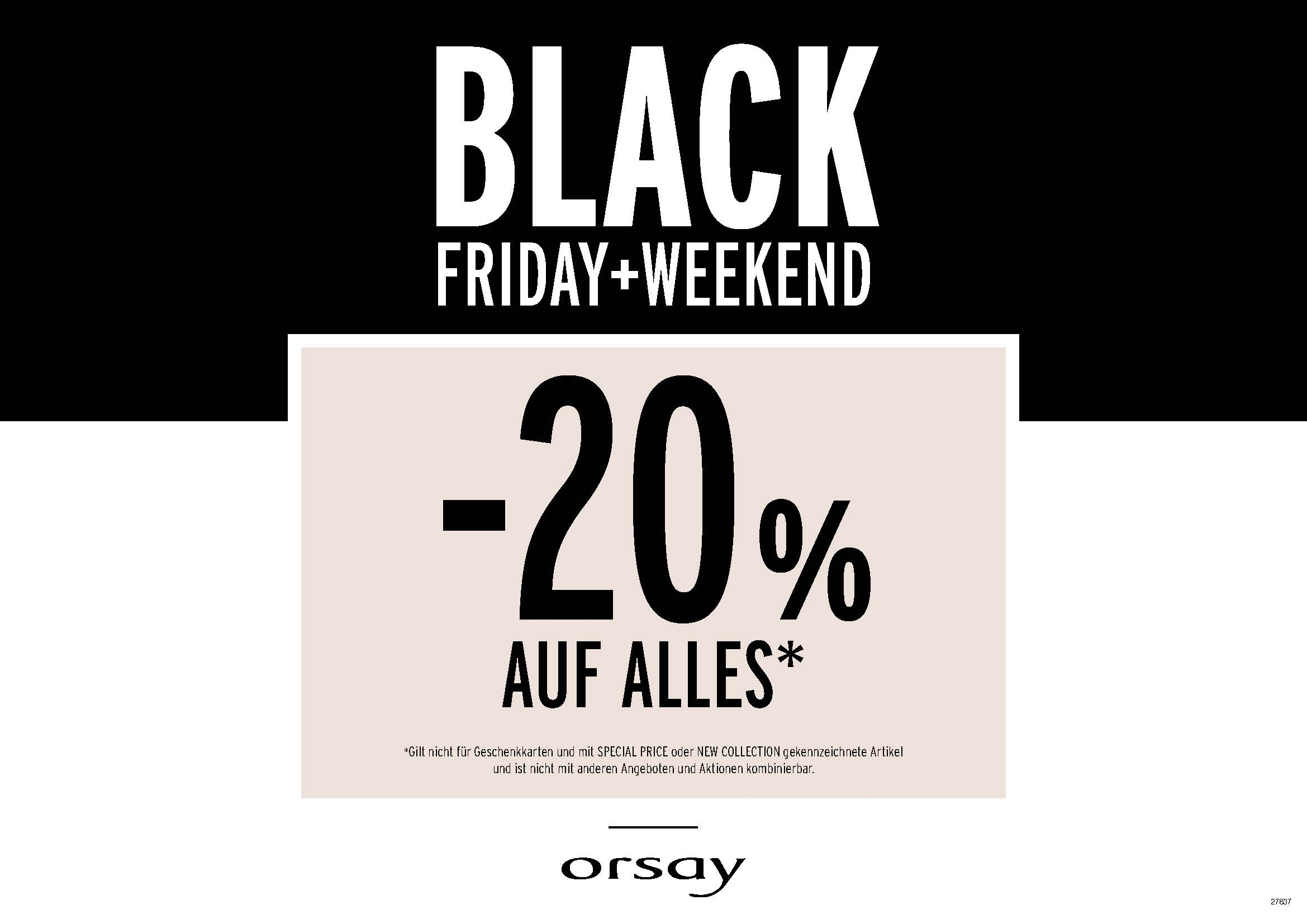 black friday 20 bei orsay black friday 2018 sterreich. Black Bedroom Furniture Sets. Home Design Ideas
